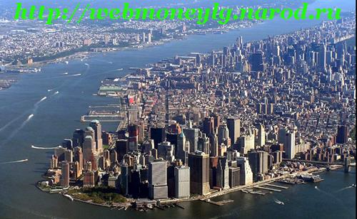 остров Манхэттен США