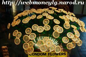 фото - цветы из презервативов